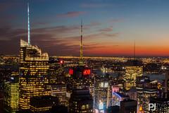Sunset Skyline View at Top of The Rock (philrdjones) Tags: nyc newyorkcity usa newyork unitedstatesofamerica september topoftherock rockerfellercenter 2014