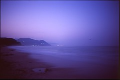 (✞bens▲n) Tags: pentax lx fa 31mm f18 limited film slide velvia 100 at200 japan shizuoka night longexposure ocean water beach dark