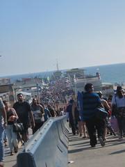 A daunting crowd on the pier (rasputina2) Tags: santamonica pier crowd