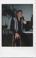 Neil Diamond Impersonator Mark Reno (RevDebbie) Tags: instax instaxmini8 fujiinstaxmini8 fuji fujifilm instantcamera film filmphotography analog analogphotography analogue analoguephotography nj collingswood singer musician