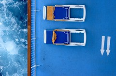 Sunbeds (Richimal) Tags: thomsonmajesty cruise cruising cruiseship cruises ship cruiseliner deck sunloungers sunbeds arrows sea ocean thesea