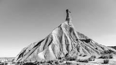 Castildetirra B&W (javisede) Tags: navarra bardenas reales castildetierra erosion terreno 5d 24105