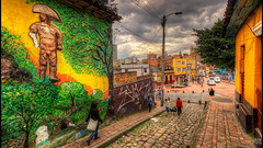 Du lịch Bogota - Colombia (Vé máy bay châu Phi - flights to Africa) Tags: 2011 bogota buildings canon7d city colombia cundinamarca detailsenhancer graffiti hdr imagenomic lacandelaria nikcolorefex nikviveza2 noiseware photomatix street urban