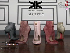 Majestic :: Ankle Boots :: 10 Colors ({kokoia}) Tags: majestic mesh kokoia slink high shoes shoe feet ouch black pack maitreya belleza themeshproject tmp stiletto pumps ankle boots bare fringe