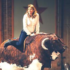 Riding the Bull (Thomas Hawk) Tags: mrsth julia juliapeterson wife bull gilleys dallas texas bullriding mechanicalbull bar usa unitedstates unitedstatesofamerica america boots