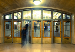 Time flies... (Huey Yoong) Tags: newyorkcity newyork usa unitedstatesofamerica america eastcoast urban city fall travelphotography bigapple northamerica manhattan grandcentralterminal trainstation motion motioneffect doors transit nikond600 nikkor28300mmvr
