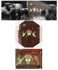 """Aroma and her Deers"" (Loana Ibarra) Tags: loanaibarra lim art arte calavera skull deer deers wall wheatpaste alternative alternativo acrylic acrilico akryl paper urban urbano urbansk urbanart visualart visualrtist lindngen malm sweden mexico catchycolors opening death flowers blommor paintingonwall mural anatomia streetart cutandpaste painting anatomy"