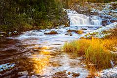 Sun reflection (Troutfisher266) Tags: norway sun creek nikon waterfall longexposure nature water reflections colors landscape autumn light srtrndelag no