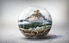 Carlos Atelier2 - Montanha encantada (Carlos Atelier2) Tags: carlos atelier2 vidro globo montanha gua azul floresta