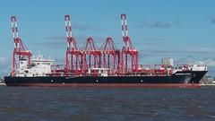 'Amundsen Spirit'. (PRA Images) Tags: amundsenspirit imo9438858 oilproductstanker tanker ships shipping rivermersey peelports liverpool newbrighton