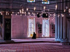 The prayer (thierry_meunier) Tags: istanbul turkey turquie architecture homme inside interior islam man mosque mosque pink prayer prieur religion religious rose voyage