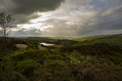 Sun and clouds over Lower Laithe Reservoir (jackharrybill) Tags: haworth bronte light westyorkshire