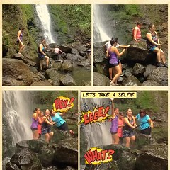 Hiking with friend (stanbstanb) Tags: lomics comics travelling everyone friend hiking peace selfie