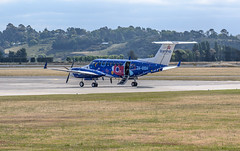 Beechcraft Super King Air 300 (ZK-SSH), Napier Airport, Hawkes Bay, NZ - 3/12/16 (Grumpy Eye) Tags: nikon d7000 nikkor 105mm 28 napier airport zkssh beechcraft super king air 300 skyline aviation