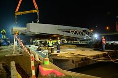 New pedestrian bridge DST_4123 (larry_antwerp) Tags: antwerpenmobiel ijzerlaan voetgangersbrug fietsbrug albertkanaal merksem roroiii victrol aertssen besix antwerp antwerpen       port        belgium belgi          ponton pontoon roroii