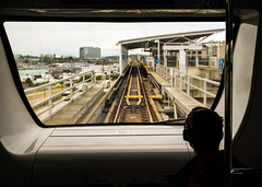 Riding Skytrain (DCZwick) Tags: skytrain railway rapidtransit silhouette vancouver bc britishcolumbia canada pentaxk3 da1685