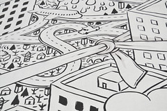 Knot (___matzo___) Tags: knot nodo bn black white street strada streetart art arte illustrazione illustration millo milan