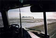 Trucking in Wyoming (ofarrl) Tags: usa wyoming laramie interstate i80 highway schneidernational bigrig semitruck 18wheeler international9670 cabover longhaul transport winter snow