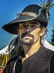 Pirate reenactor at a 2013 Boy Scout encampment near Springfield, OR (mharrsch) Tags: reenactor livinghistory civilwar americancivilwar pirate 19thcenturyce history springfield oregon mharrsch