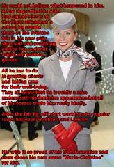 aviation fair (Marie-Christine.TV) Tags: feminine transvestite lady aviationfair stewardess flightattendant flugbegleiter kostüm skirtsuit mariechristine