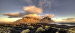 Mountains on Fire (Nick L) Tags: vestrahorn vesturhorn iceland icelandic brunnhorn clouds sunrise dawn dunes seascape landscape canon eos 5d 5d3 1124l stokksnes blacksand canonef1124f4l