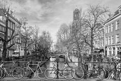 Oude Gracht - Utrecht (moni-h) Tags: dezember2015 eos760d grachten kanal nederland niederlande provinzutrecht utrecht nl fietsen outdoor binnenstad canonefs18135mmf3556isstm hamburgerstraat domtoren hamburgerbrug