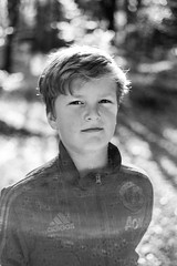 Teddy (RobertMPoole) Tags: portrait bokeh m9 leicam9 mono monochrome blackandwhite autumn fall family