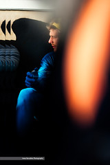 it is difficult to save the world even for supermen (Nannile) Tags: nikon d700 superman tributetosaulleiter highcontrast reflections abstract conceptual surreal blue orange