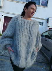 Women in sexy mohair sweater (Mytwist) Tags: gray longhair mohair sweater lanaknittings girl woman lady sweatergirl knitwear milf wool woolfetish fashion fetish female grobstrick retro exclusive laine design