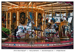Vintage carousel with horses (Iztok Alf Kurnik) Tags: firence florence iztokkurnik toscana toscany carousel empty entertainment fun horse italia italy lunapark nopeople vintage horses