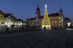 Royal Castle Square at Christmas. Warsaw, Poland (StudioMde) Tags: royalcastlesquareatchristmaswarsaw poland warsaw waschau 2016 castle square plac zamkowy w warszawie festive christmas tree