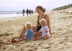 M - young mother 2 (jonathan charles photo) Tags: young mother twins beauty maternal sandbanks beach art photo jonathan charles