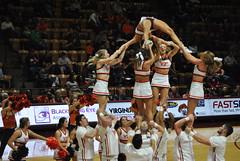 HOKIE CHEERLEADERS (SneakinDeacon) Tags: acc vt vatech hokies cassellcoliseum cheerleaders bigsouth basketball panthers highpoint