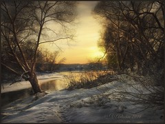Sunset on the river Protva (odinvadim) Tags: textured textures iphone editmaster travel iphoneography sunset evening iphoneonly painterly artist snapseed landscape specialist iphoneart graphic painterlymobileart winter