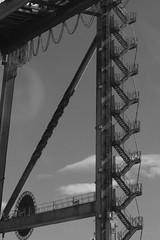 escalera (danielviera1) Tags: monochrome blancoynegro blackandwhite navy boat barco byn bnw escalera estarways container heavy gra port puerto muelle muelledelaluz grancanaria sea mar ocean ocano atlantic atlntico yellow colorsplash abandoned worker canon sigma canonphotography