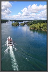 Island Tour (Note-ables by Lynn) Tags: outdoor photoborder stlawrenceriver gananoque ontario tourboat landscape 1000islands