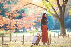 Yuki (Yuri Figuenick) Tags: woman portrait japanese asian girl autumn fall nature leaves travel trip alone fashion canon eos 5d markiii color colorful 135mmf2l