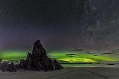Aurora and Milky Way (bradders29) Tags: aurora ceannabeinnebeach scotland grahambradshaw stars milkyway