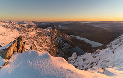 'Summit Sunrise' - Snowdon (Kristofer Williams) Tags: sunrise snowdon mountain snow ice landscape view lakes wales snowdonia eryri valleys morning outdoor hillwalking llynglaslyn llynllydaw yrwyddfa
