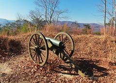 Mind the Gap (RPahre) Tags: cannon gun artillery napoleon 12pound autumn fall kentucky cumberlandgap