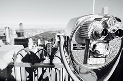 """Central Perspective"" (Rober Martinez Fotografia) Tags: observationdeck mirador parque park rascacielos bw byn tokina 5t sony nex paisaje landscape manhattan topoftherock usa ny newyork nyc centralpark"