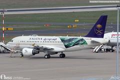D-ASPA (dabianco87) Tags: aeroplano aircraft aerei plane dusseldorf dus airbus a319 daspa saudia