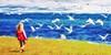 Tawas Bay seagull chase 2015 (hz536n/George Thomas) Tags: cs5 canon canon5d michigan copyright nik upnorth 2015 ef24105mmf4lisusm fractalius tawas tawasbay seagull lake lakehuron sky audrey