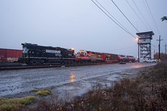 Water for the Fire (ajketh) Tags: ns norfolk southern 5642 5200 gp382 highhood emd columbia andrews yard charleston linwood 338 pb04 freight train railroad rain beacon rc remotecontrol first responders safety