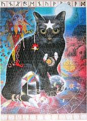 The Joker (Una Woodruff) (Leonisha) Tags: puzzle jigsawpuzzle cat chat katze blackcat schwarzekatze