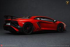 Lamborghini Aventador LP750-4 SV (JOJO BEE - DIECASTCARSGROUP) Tags: lamborghini aventador lp7504 sv kyosho ousia 118 scale model replica diecast sealedbody v12 hyper super sports car rossobia red metallic glittered