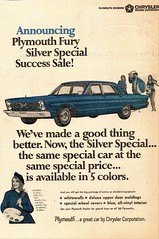 1966 Plymouth Fury Silver Special (aldenjewell) Tags: 1966 plymouth fury silver special newspaper ad