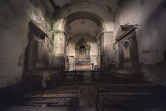 A preacher tried saving my black damaged soul (RuiFAFerreira) Tags: abandoned aged architecture decay urbex urban urbanexploration uwa unoccupied old oblivion exploration canon chapel hdr interior light shadow 60d 1018mm villa