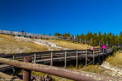 To the top (Thad Zajdowicz) Tags: nature people walking climbing walkway boardwalk sky color blue colour conceptlines diagonal zigzag zajdowicz yellowstonenationalpark wyoming canon eos 7d dslr digital lightroom outdoor outside 366 365
