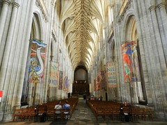 Winchester Cathedral Interior, Winchester, Sep 2016 (allanmaciver) Tags: winchester cathedral england vast nave entrance huge amazing impressive visitor church seats architecture allanmaciver